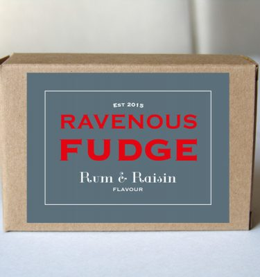fudge rum and raisin box