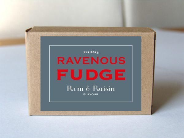 fudge rum and raisin box